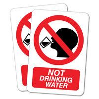 2X NOT DRINKING WATER SAFETY Sticker Decal Side Vehicle Boat Waterproof #6510EN