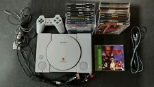 Sony Playstation mod modchip SCPH-5501 bundle controller, 18 games PS1 PSX