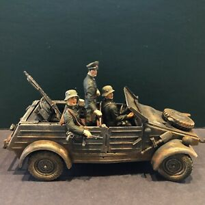 Elastolin / Lineol: German Army Kubelwagen, c1940. 70mm Scale