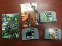 N64 3 Game Lot-Forsaken, Quest, and Banjo Kazooie
