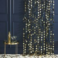 GOLD FOIL STAR BACKDROP CURTAIN DECORATION CHRISTMAS NEW YEAR