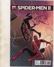 SPIDER-MEN II #1 MARQUEZ VARIANT SIGNED BRIAN MICHAEL BENDIS ECCC! SPIDERVERSE!