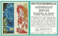 SCUDETTO IN RASO CALCIATORI PANINI 1991/92 - FUORI RACCOLTA - SCEGLI
