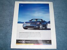 "2004 Cadillac XLR Roadster Ad ""Stealth Fighter-Inspired..."""