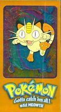 Topps, MEOWTH Card. Oversized Topps Chrome Pokemon Card 5 of 5 JUMBO