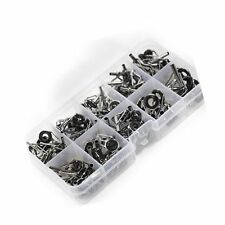 Croch Fishing Rod Tip Repair Kit Stainless Steel Set of 90 Pcs ,9 Sizes New