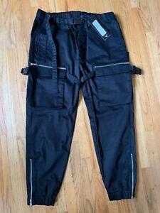 SKINGRAFT Punk Cargo Pants in black men's XL NWT $260