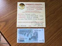 BANCONOTA CIPRO 5 EURO 2002 FIRMA TRICHET certificata FDS SUBALPINA