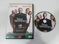 FALSAS APARIENCIAS DVD EDIC ESPECIAL BRUCE WILLIS MATHEW PERRY ESPAÑOL ENGLISH