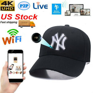 HD 1080P WIFI IP DVR SMARTPHONE CONTROL Hidden Hat SPY Video Camera Baseball CAP