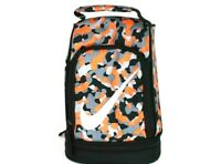 Nike Lunch Box Tote School Bag 2 Compartment Insulated Orange/Gray 9A256 NG8 New