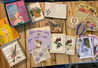 Large MIXED Lot of Vintage Notecards Stationery- 50+ Cards-some Hallmark