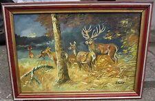 Tier-künstlerische Aquarell-Malereien von Hirschen