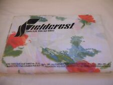 NIP Vintage Fieldcrest percale cotton blend Twin Flat sheet floral