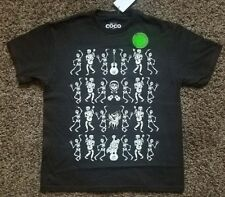 Disney's COCO Pixar *Skeletons**Glows in Dark* S/S Tee T-Shirt sz 7/8