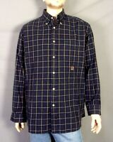 vtg 90s euc Tommy Hilfiger Men's Flannel Windowpane Check Shirt Crest sz L