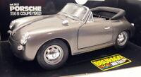 Burago 1/18 Scale Diecast 3021 Porsche 356B Cabriolet 1962 Metallic Grey