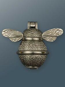 Brass Bee Door Knocker - Pewter Finish - Solid Brass Bumble Bee Door Knocker
