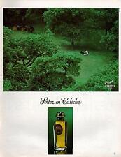 ▬► PUBLICITE ADVERTISING PAFUM PERFUME Calèche Hermès 1978