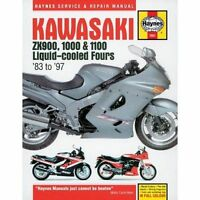 Haynes 1681 Manual for Kawasaki ZX900 1000 1983-1997