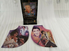 LOT OF 3 ELVIS PRESLEY MEMORIAL PLATES FOREVER ELVIS PASSION EXCITEMENT