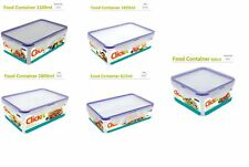 5 Pc Click Lock Lid BPA Free Food Container Set Air Tight Leak Proof Storage Box