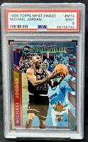 1996 Topps Finest Mystery Bulls MICHAEL JORDAN Basketball Card PSA 9 MINT Pop142