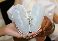 Pre walker Personalized soft sole BAPTISM baby shoes