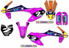 Para KTM 50 2016-2018 kit de gráficos personalizados Pegatinas Calcomanías De Motocross MX