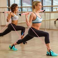 Fitness Multi-functional Yoga Pull Rods Portable Gym Pilates Bar Resistance Band