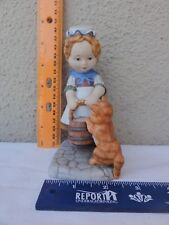 "Franklin Mint Porcelain "" Amanda "" Early American Children Series"