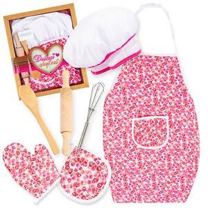 Kinderschürze Kochmütze Kochküchen Set für Kinder KP3730 Küchenspielzeug Backset