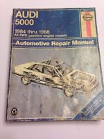Haynes Repair Manual Audi 5000 1984-1988 All 2WD Gas Engines