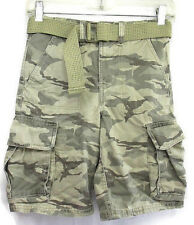 Route 66 Boys Youth Cargo Camouflage Shorts With Belt Size 10 Cotton Never Worn!
