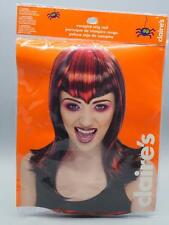 Claire's Black Red Wig Vampire Halloween Costume Accessory
