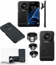 100% Genuine Samsung Camera Lens Case Cover KIT Teleobiettivo per Galaxy S7 NERO