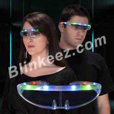 LIGHT UP Stellar Party Sunglasses Raver Light Up Flashing Blinking FUN!