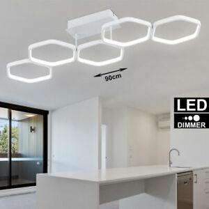 LED Decken Leuchte DIMMBAR weiß matt Wohn-Zimmer Design Ring Lüster Küchen Lampe