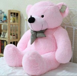 39 Stuffed Giant 100CM Big Pink Plush Teddy Bear Huge Soft 100% Cotton Doll Toy