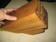 New listing Vtg 15 Slot Oak Knife Block Holder Unbranded Rubber Feet Storage Organizer