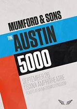 "MUMFORD & SONS ""AUSTIN 5000"" 2016 SALT LAKE CONCERT TOUR POSTER - Alt/Folk Rock"