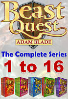 Beast Quest The Complete Series Collection Adam Blade Series (1 to 16)