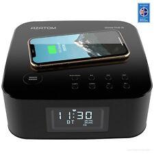 AZATOM HomeHub Q Wireless charger Alarm Clock Radio iPhone Samsung Bluetooth (R)