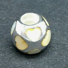 """GENUINE PANDORA """" HEART MOTHER OF PEARL"""" BEAD 790398 925 ALE *DISCONTINUED* 1228"""