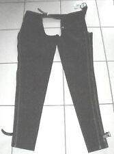 Kavalkade Lang Chaps, westernchaps, gamuza, talla L, negro, sin flecos