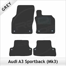 Audi A3 Mk3 Sportback 5-Door 2012 onwards Tailored Carpet Car Floor Mats GREY
