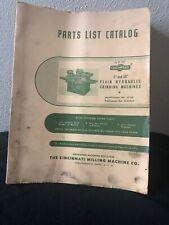 Cincinnati Grinding Machines Parts List Catalog Id No. 5P-De Pub No. G-540-2
