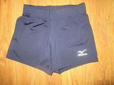 Womens MIZUNO athletic spandex volleyball shorts sz S Sm navy blue