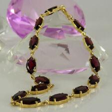 Markenlose Granate Echtschmuck-Armbänder aus Gelbgold