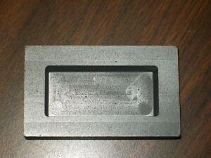 Fine Grade Graphite 10 oz silver ingot loaf mold